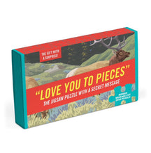 """Love You To Pieces"". Jigsaw puzzle with a secret message."