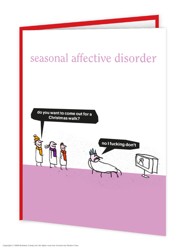 Seasonal Affective Disorder Christmas Card