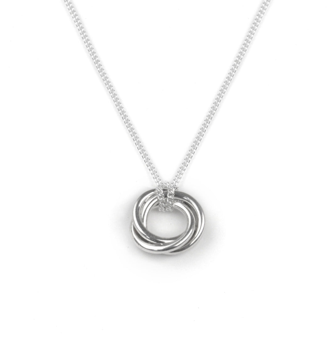 Silver bond of friendship necklace by Tales From the Earth