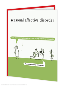 Seasonal Affective Disorder Mince Pie Christmas Card