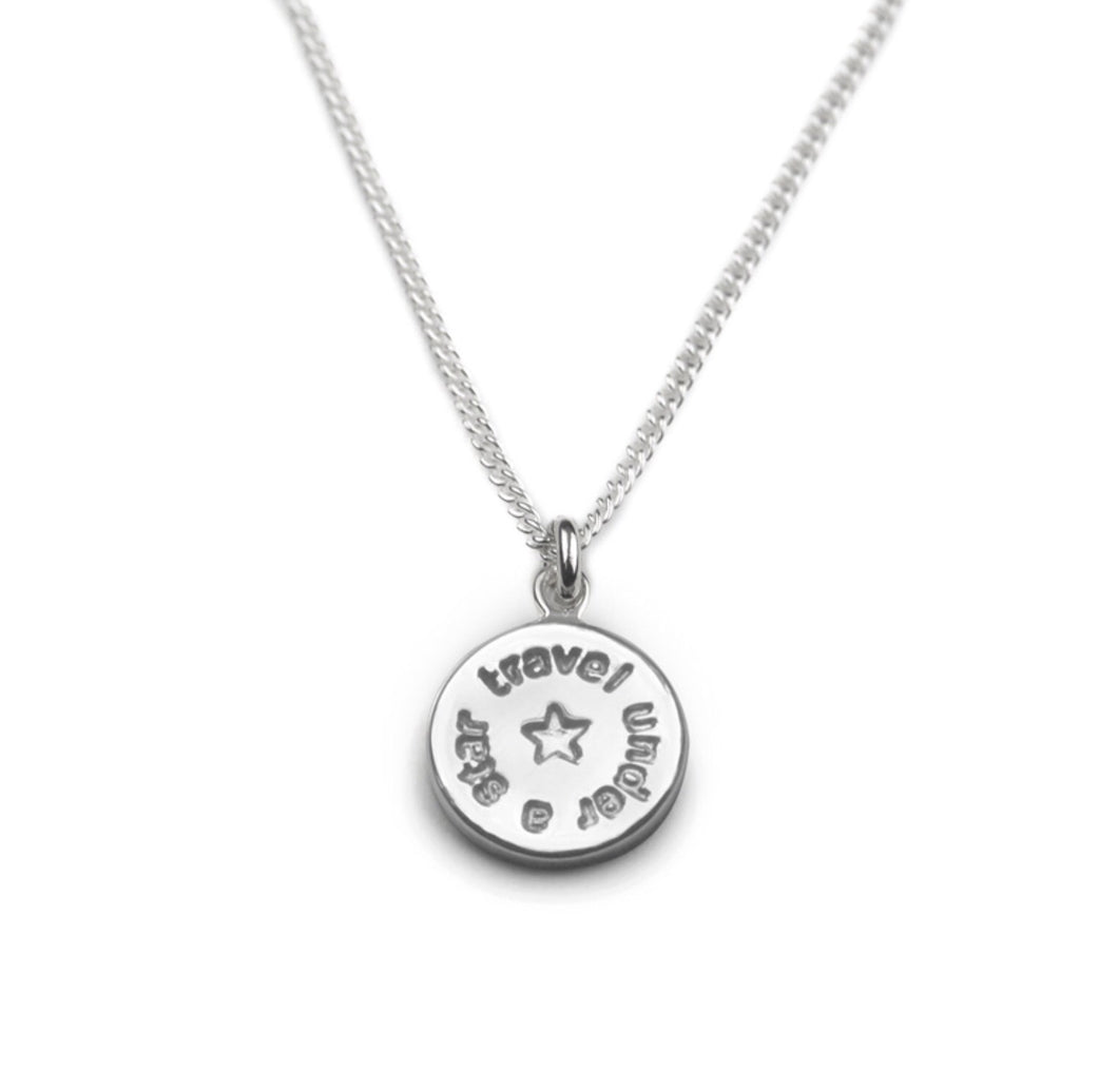 Silver Travel Under a Star Necklace