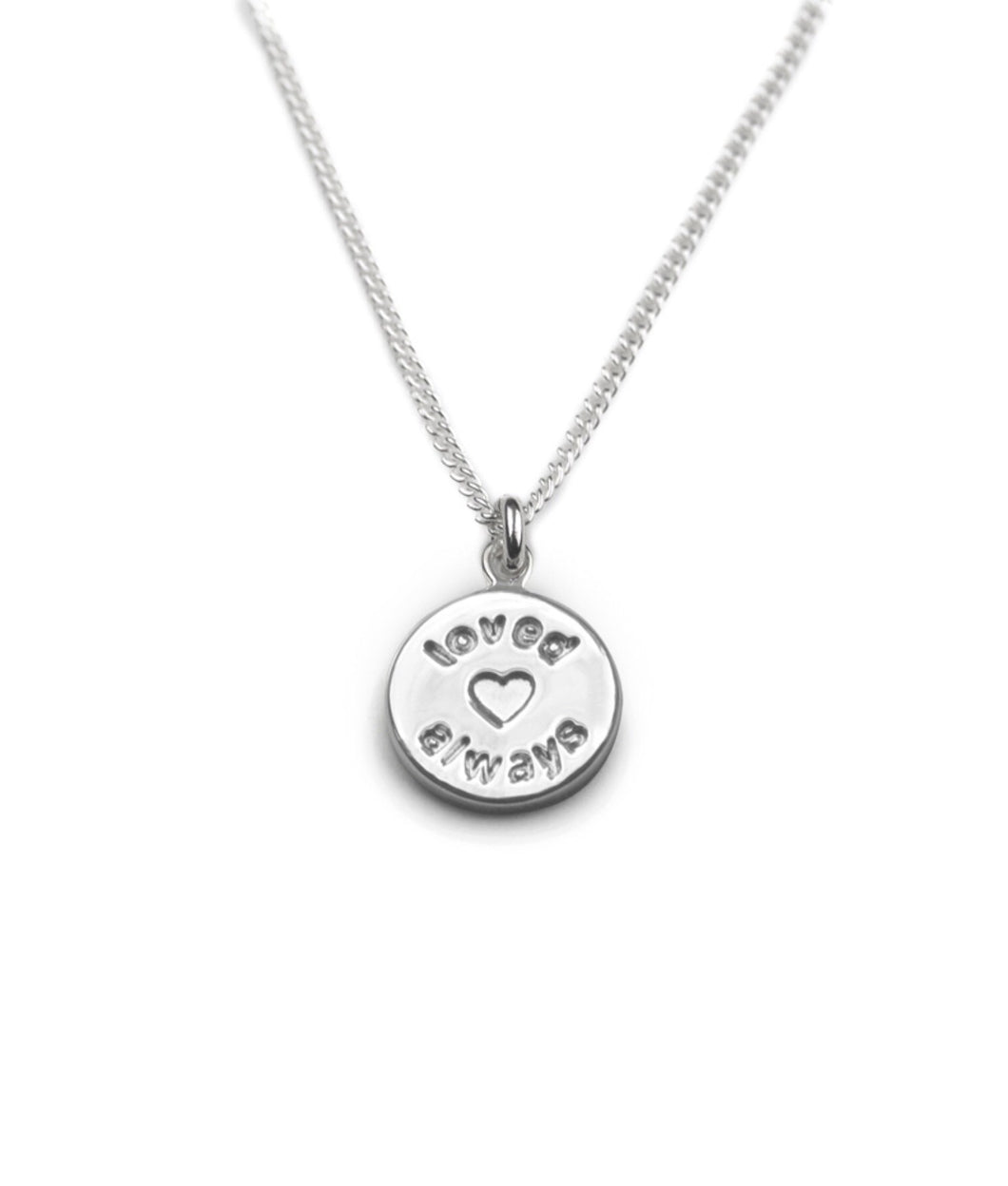 Silver Loved Always Necklace by Tales From The Earth