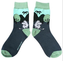 Moomin in the forest socks