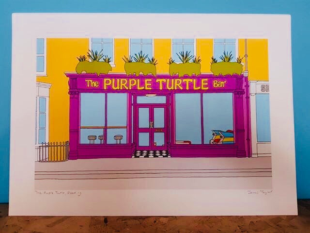 Purple Turtle Print