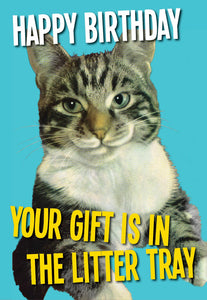 Happy Birthday....Your Gift is in the Litter Tray