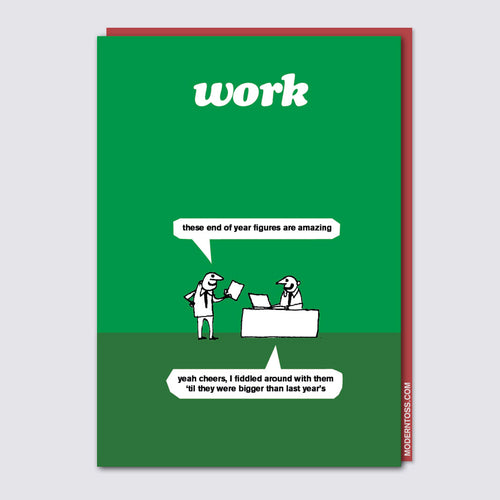 Work Amazing Figures Card