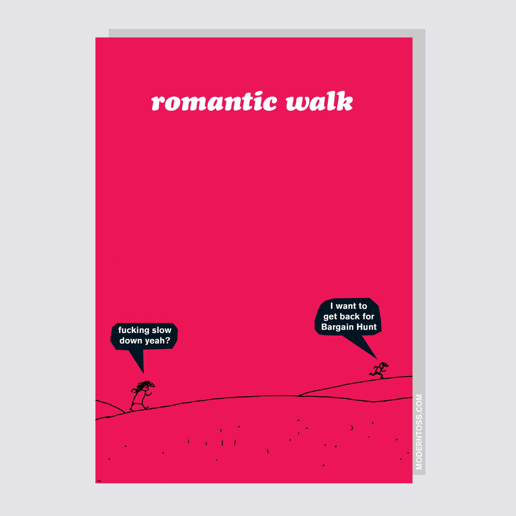Romantic Walk Valentine's Day Card