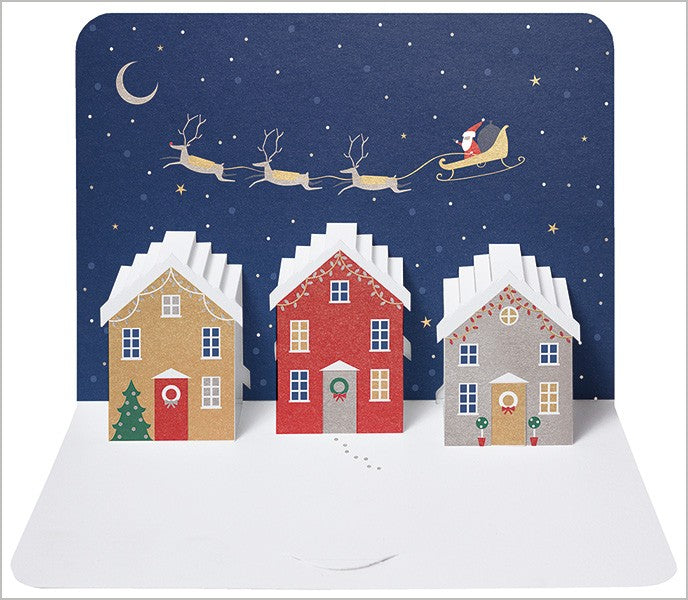 3D Houses Luxury Christmas Card