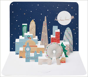 3D London Skyline Luxury Christmas Card