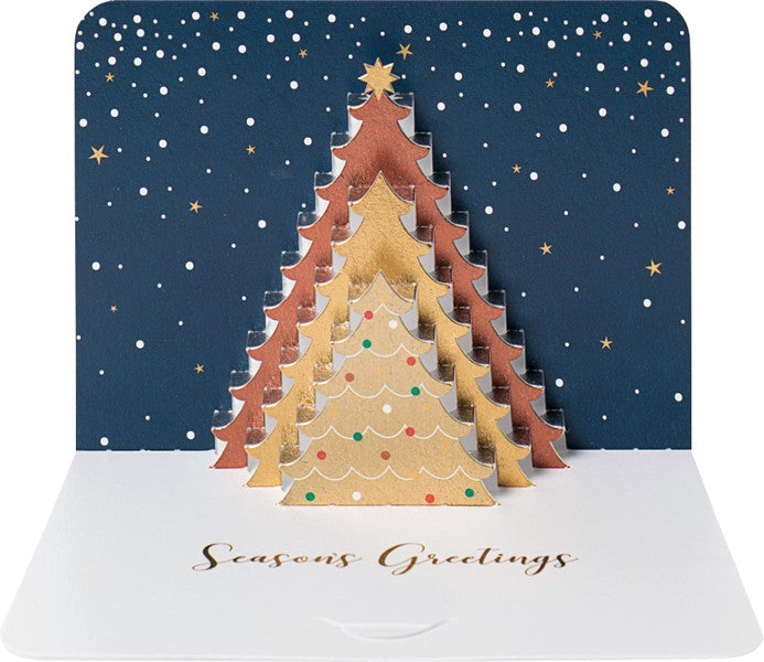 3D Christmas Tree Luxury Christmas Card