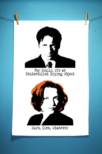 Mulder & Scully Tea Towel