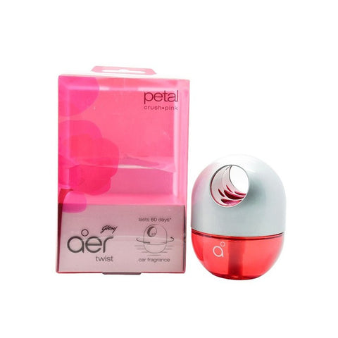 Godrej aer Twist - Car Freshener - Petal Crush Pink (45 g)