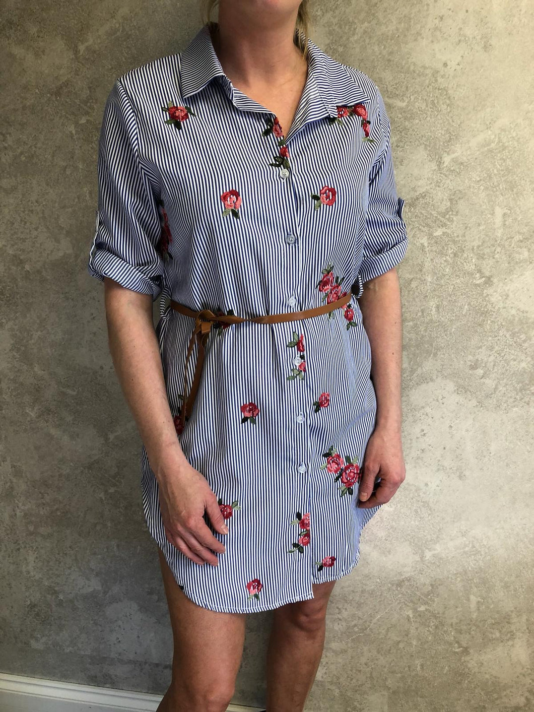 Evelyn shirt dress