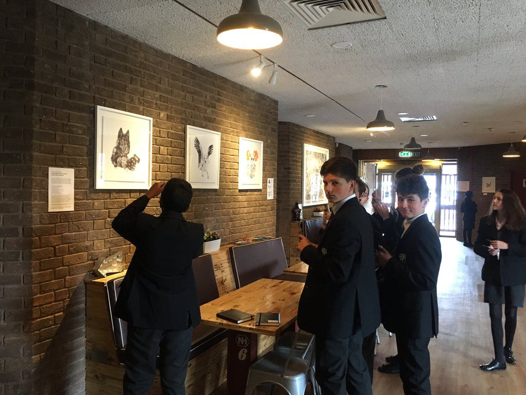 RGS Students visit Gosforth Civic Theatre Exhibition