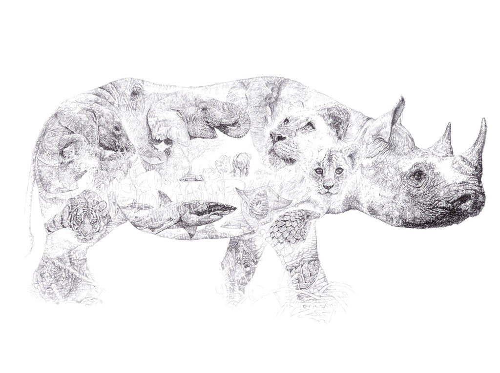 'Rhino' Drawing Auction for CHENGETA WILDLIFE