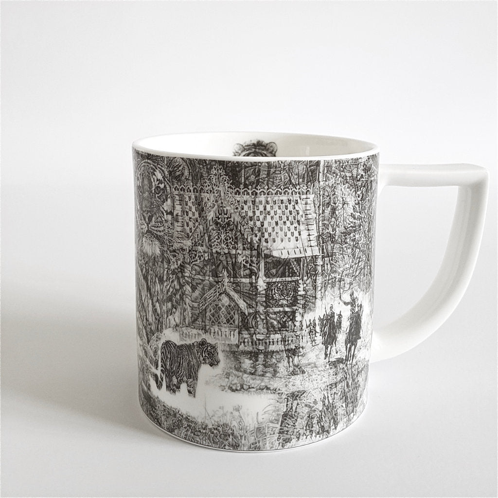 Shh, it's a Tiger-Bang! Fine China Mug