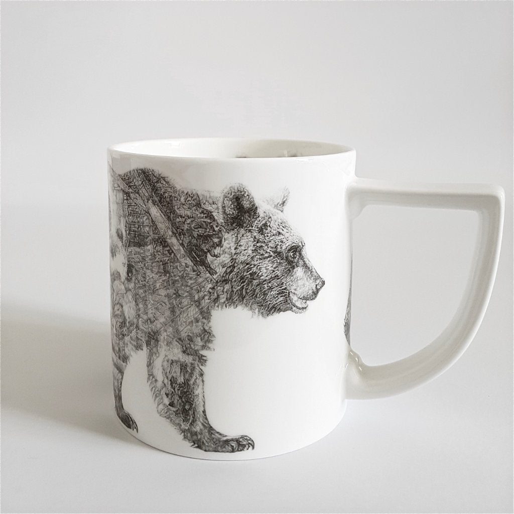 Mummy Bear Fine English China Mug