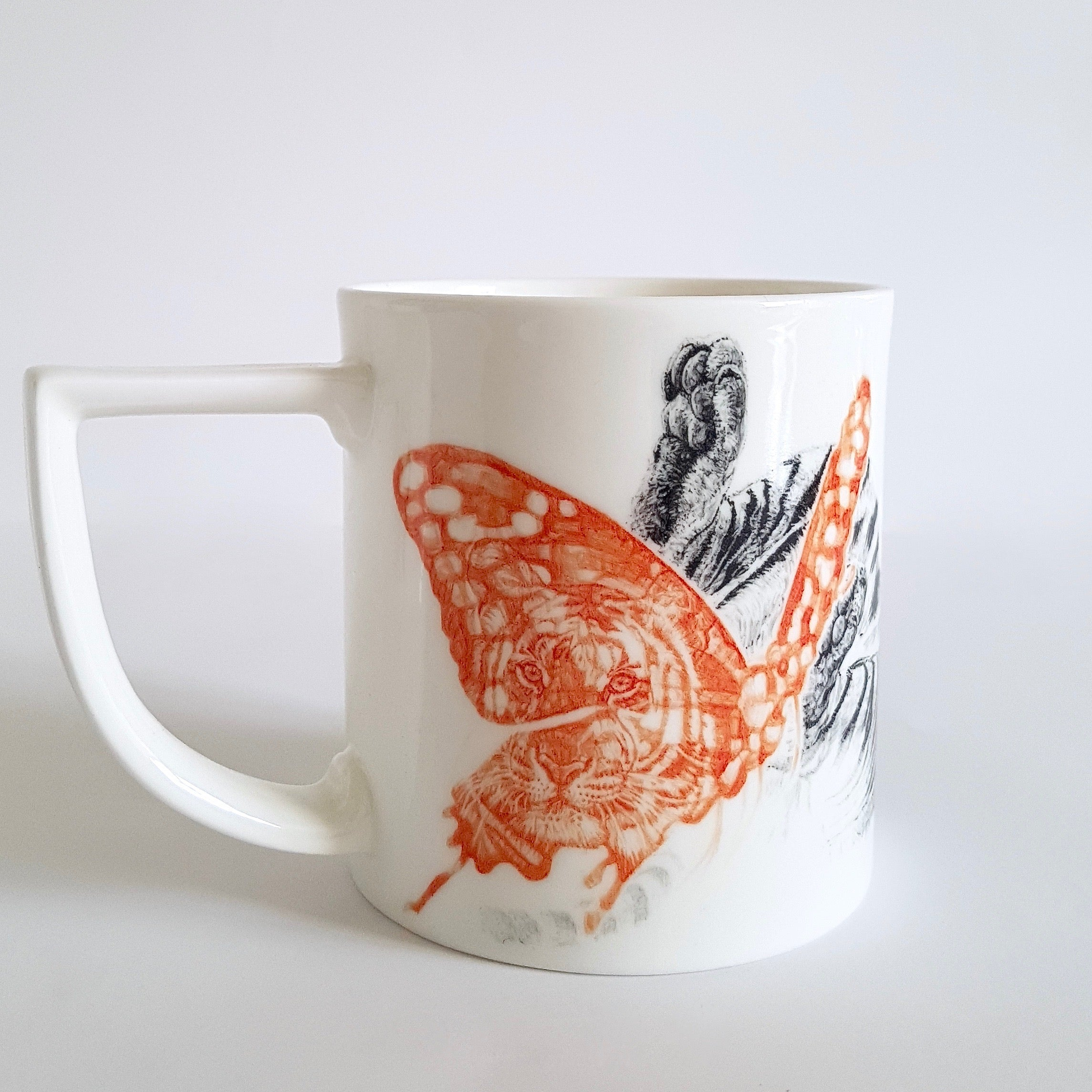 Butterfly Lover Fine English China Mug