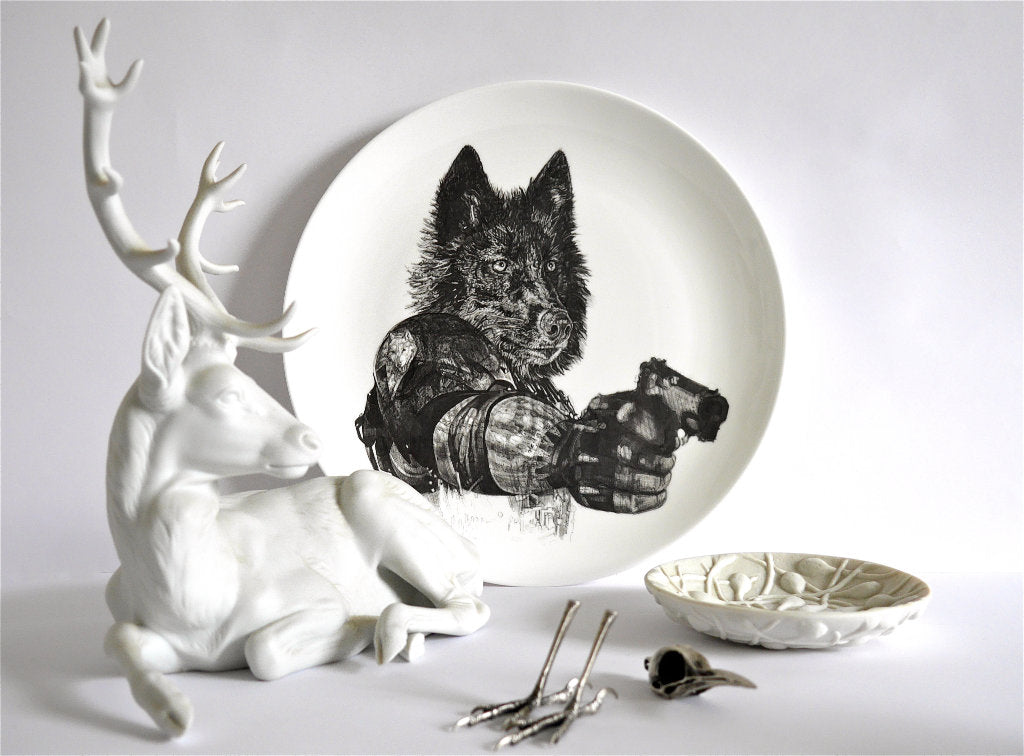 Revenge Limited Edition Fine English China Coupe Plate