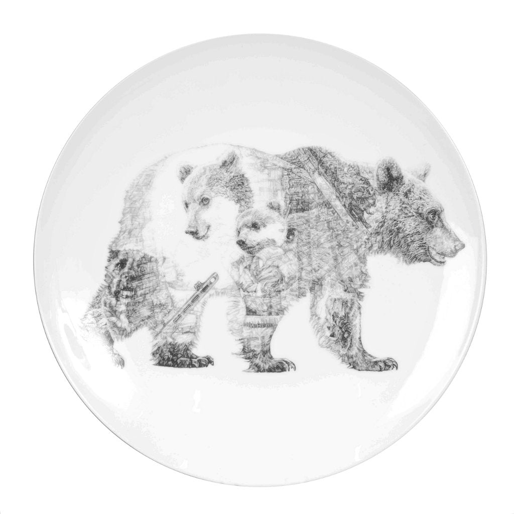 Mummy Bear and Baby Bear Limited Edition Fine English China Coupe Plate