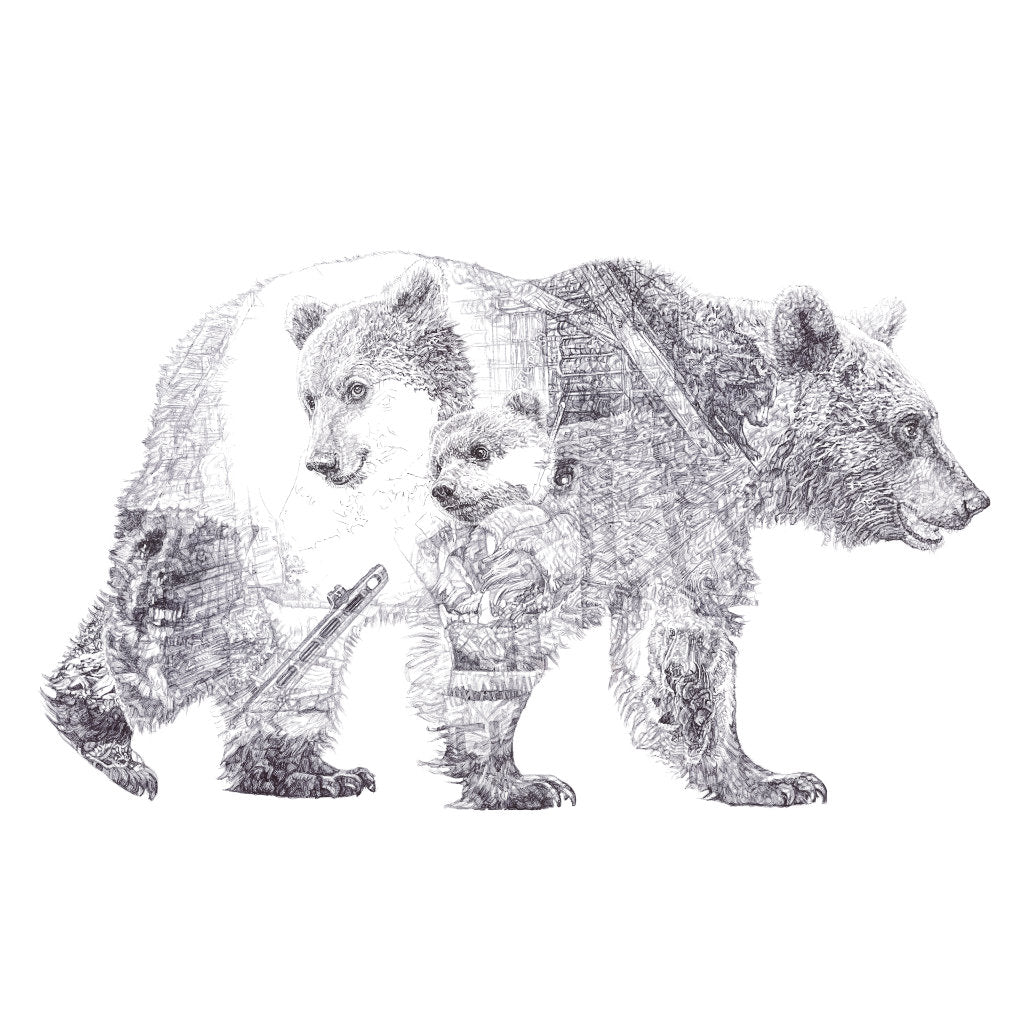Mummy Bear and Baby Bear Limited Edition Print
