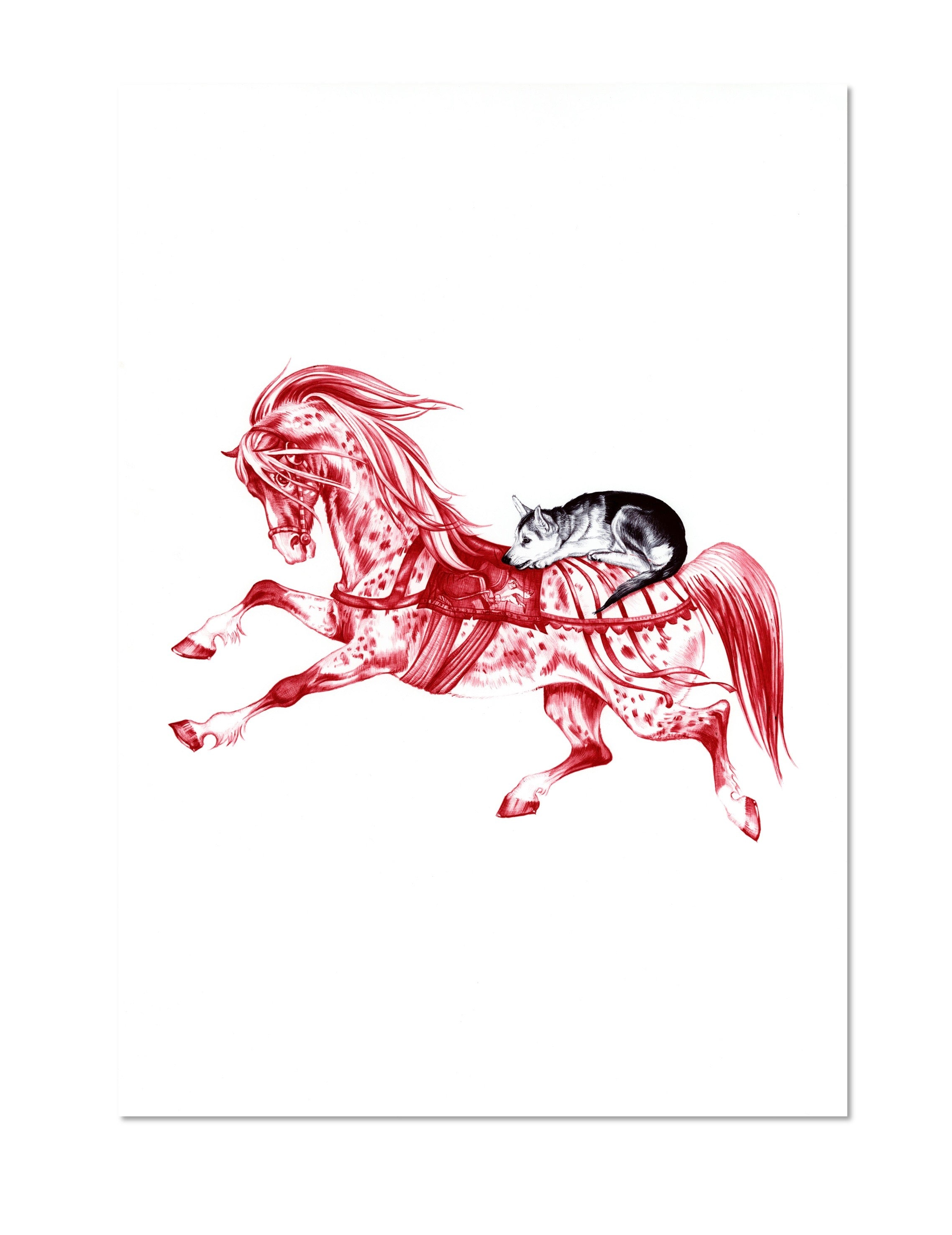 The Horse and the Wolf Cub Limited Edition Print