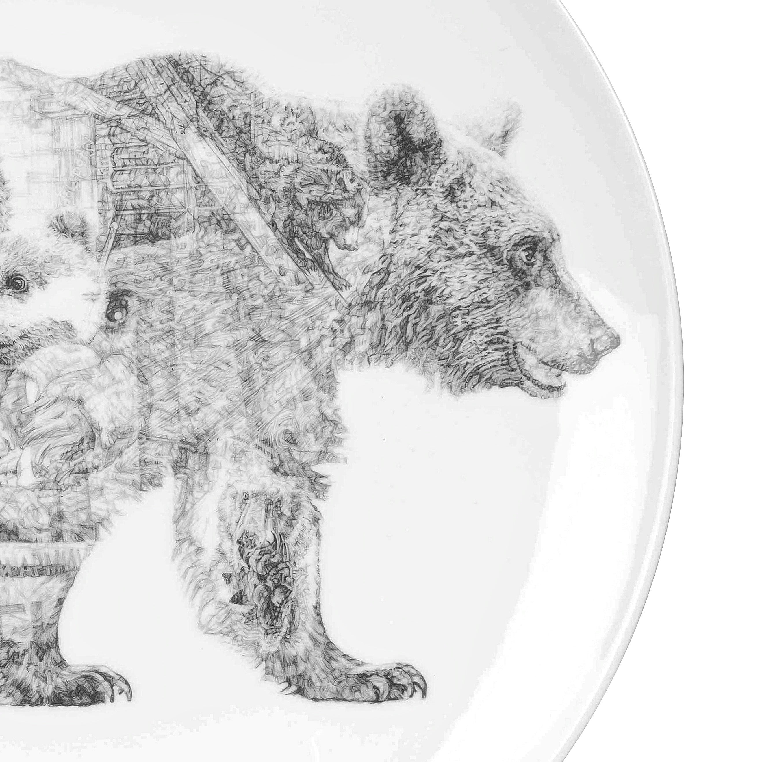 Mummy Bear and Baby Bear China Plate