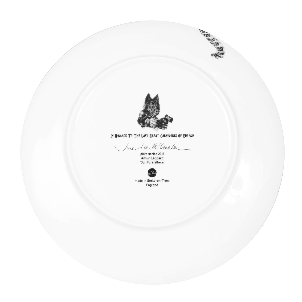 Our Forefathers Limited Edition Fine English China Coupe Plate