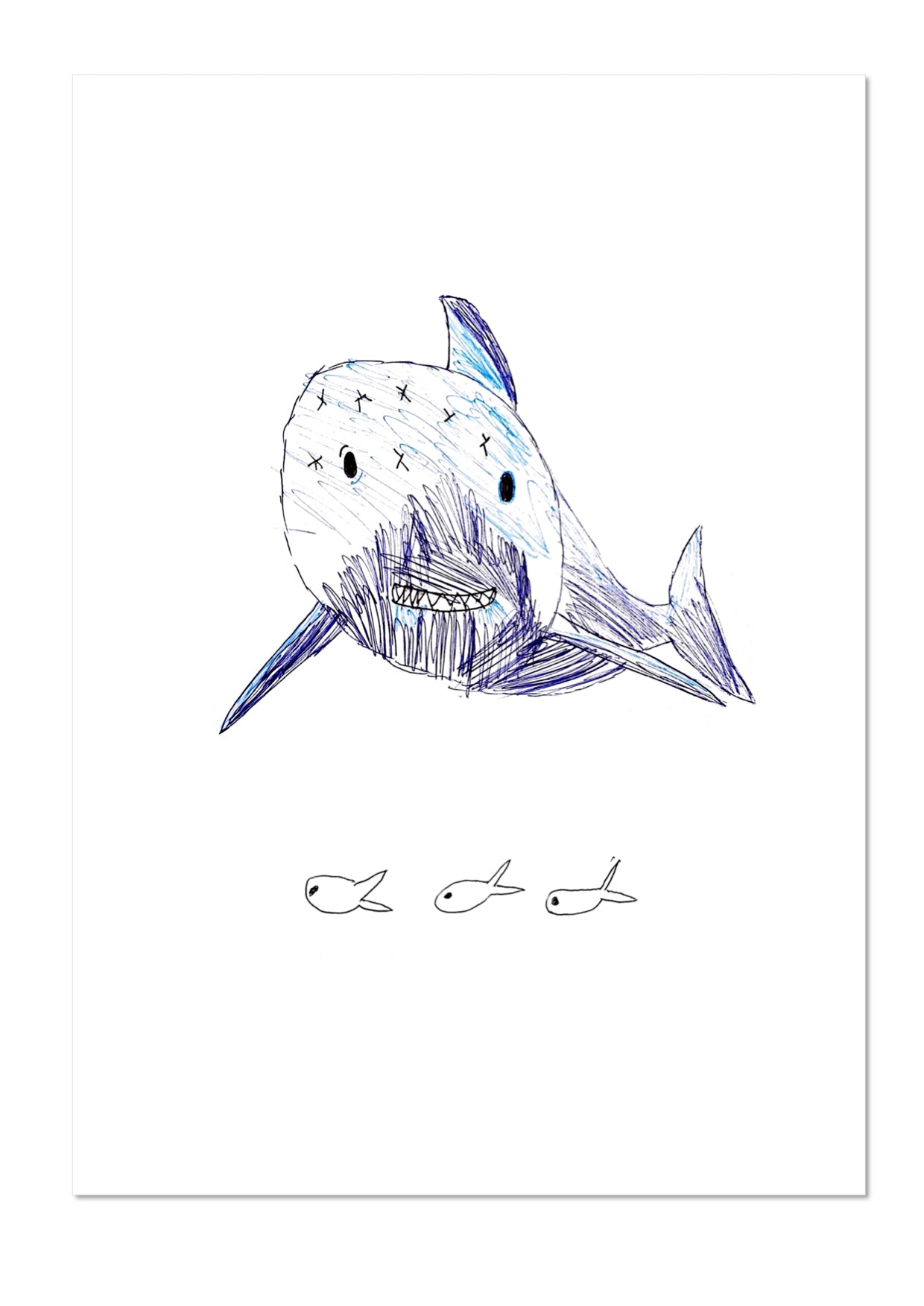 Shark by Isabel Exhibition Print