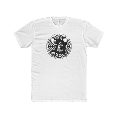 Btc Tee Digital Circuit Solid White