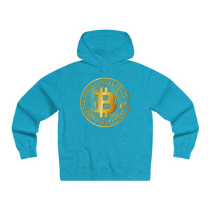 Bitcoin Digital Gold Sign Premium Hoodie Turquoise Heather