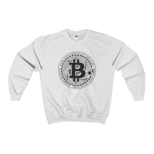 Bitcoin Sign Sweatshirt White