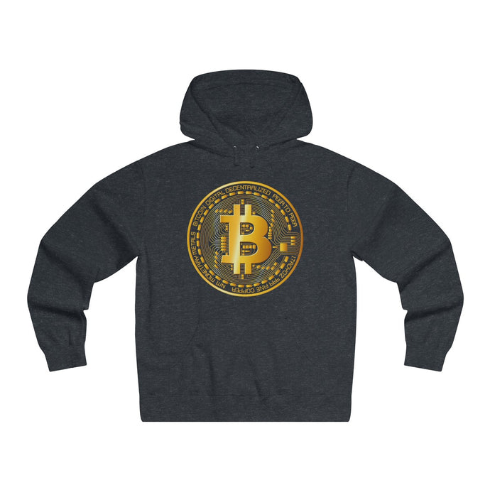 Bitcoin Digital Gold Sign Premium Hoodie Charcoal Heather