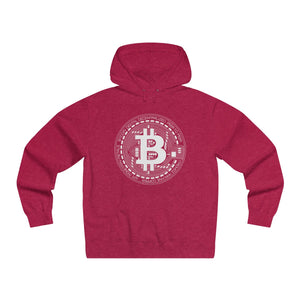 Bitcoin Sign Premium Hoodie Red Heather