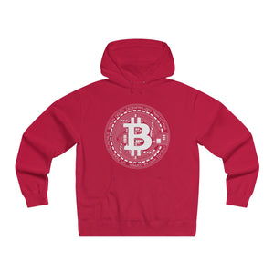 Bitcoin Sign Premium Hoodie Red