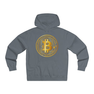 Bitcoin Digital Gold Sign Premium Hoodie Solid Charcoral