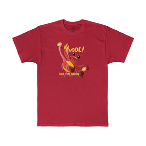 Cryptopod Hodl For The Moon Tee Deep Red