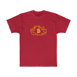 Btc Tee Cloud Circuit Deep Red
