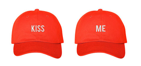 dd7e7d02625 Kiss Me - Embroidered Kiss Me Couples Matching Valentines Dad Hat