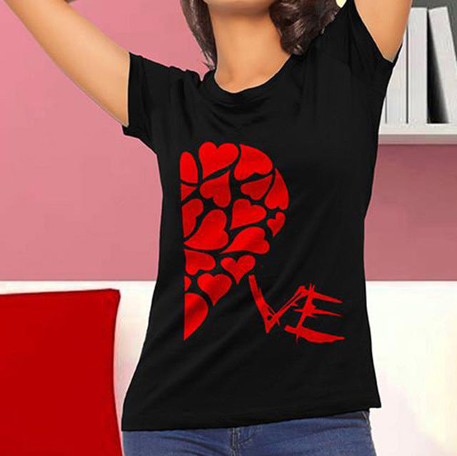 977fd8cbebdf ... Heart Together - Matching Couples His and Hers Valentines T-Shirt Set  ...