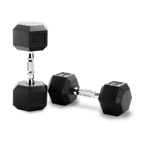 Pair of Hex Commercial Dumbbell