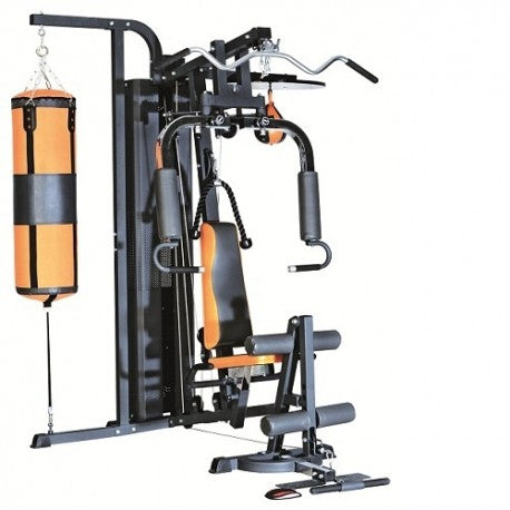 Deluxe Three Station Multi Gym with Punching Bag