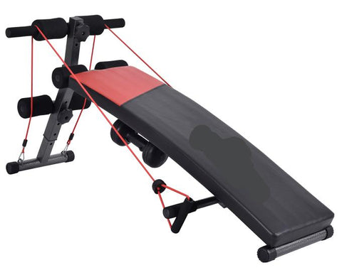 Tummy Trimmer Sit-Up Bench with Rope & Spring