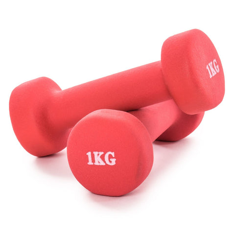 Pair of Aerobic Rubber Dumbbell