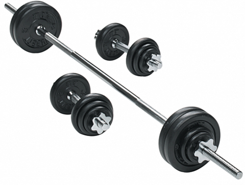 50KG Barbell Weight (with Dumbbell Rod)