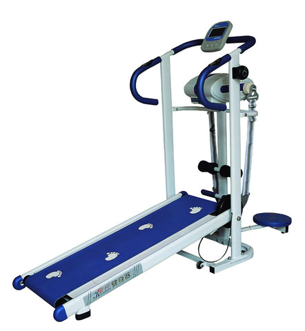 Manual Treadmill with Massager & Waist Twister