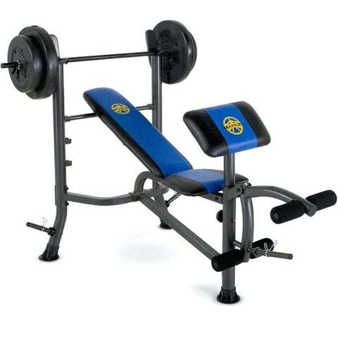Bench Press with 50KG Barbell Weight & Preacher Curl Pad