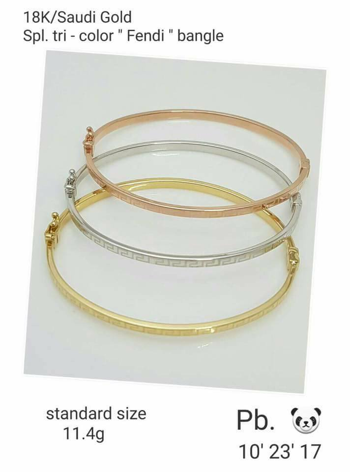 x wide raf indian tricolor products rossi bracelets plated gold virgin de tri cuff color collections goldplated sets bangles of guadalupe brazilian set virgen bangle