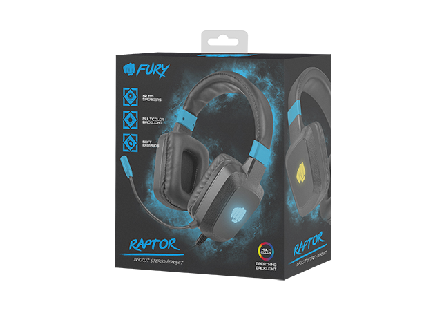 Fury Gaming Fury Raptor LED PC Gaming headset Headset