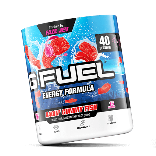 GFuel G Fuel Ragin' Gummy Fish Tub Gamers energy